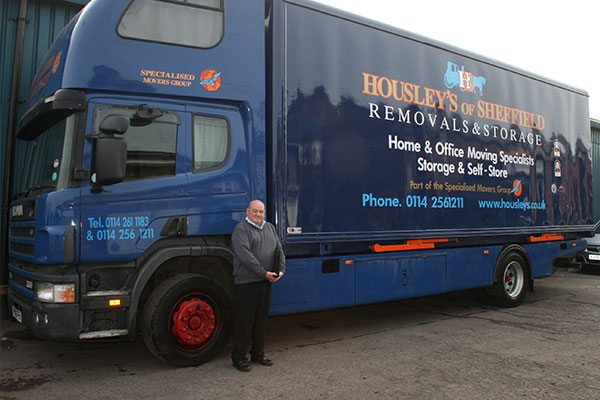 Housleys sheffield moving company van
