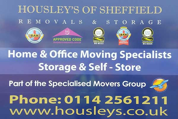 Housleys sheffield moving company plaque